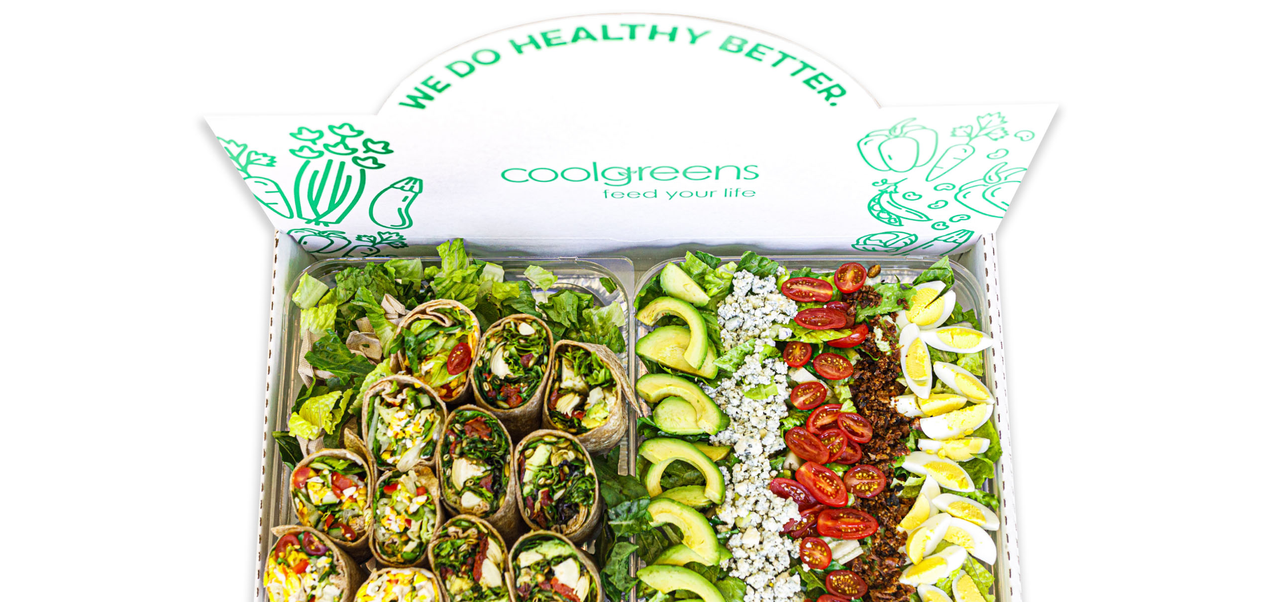 Catering Wraps And Salad